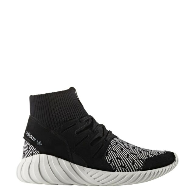 new product bfceb 53bb1 New Mens Adidas Tubular Doom Trainers Black White S80096