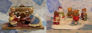 Hallmark-Christmas-1993-Bearingers-Complete-Set-2002-Holiday-Hill-Complete-Set