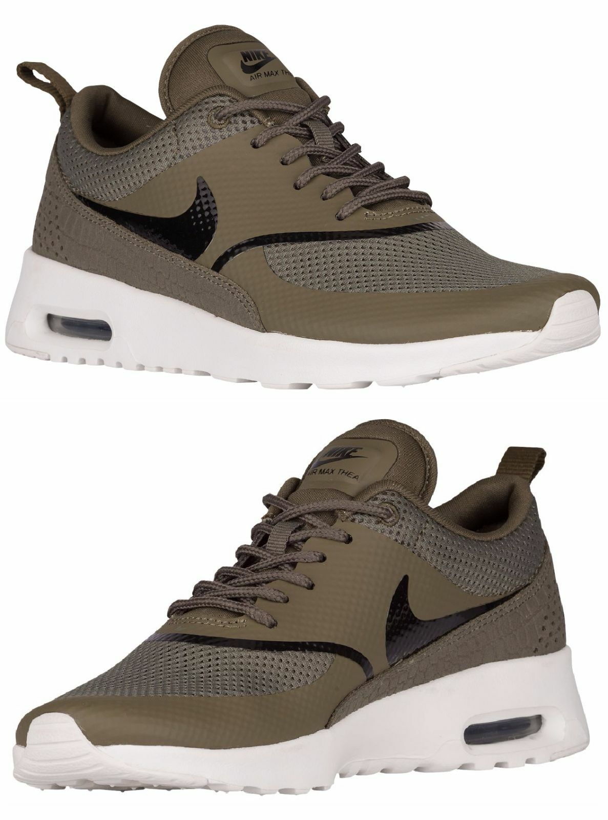 reputable site d34b9 d314e Nike Air Max Thea Mujer Atletismo Mediano Verde Verde Verde Oliva - Summit  Blanco - Negro