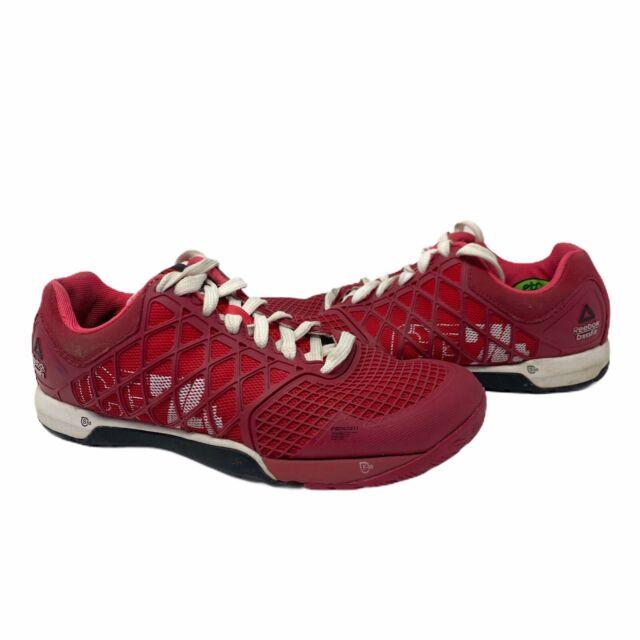 Reebok Crossfit CF74 Nano 4.0 Cross Training Womens Shoes Cherry Red Pink Sz 6.5