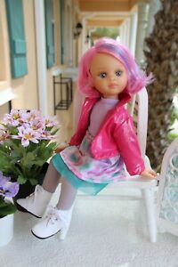"""T-SHIRT~FLOWERS~ for Paola Reina dolls~Corolle~13.5/"""" 34cm ~iCukla~#17"""