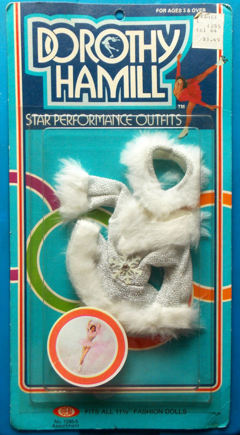 1977 DgoldTHY HAMILL 11  ideal OLYMPIC ice skating doll DRESS MOC -- SNOW FLAKE