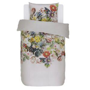 Essenza-Bettwaesche-Rixt-White-weiss-beige-Blumen-Blueten-Rosen-Pflanzen-Satin