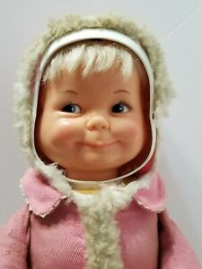 RARE-VINTAGE-1968-IDEAL-LITTLE-LOST-BABY-DOLL-3-FACE-DOLL-SMILE-SLEEP-amp-CRY-21-034