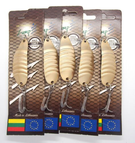 Fishing spoon 5 pieces  pike lure perch tackle zumpe blesna vintage fishing lure