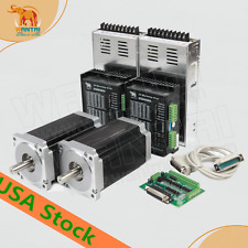 EU&UK&USAFREE 2Axis Nema34 Stepper Motor 1090oz-in&Driver 5.6A cnc router kit