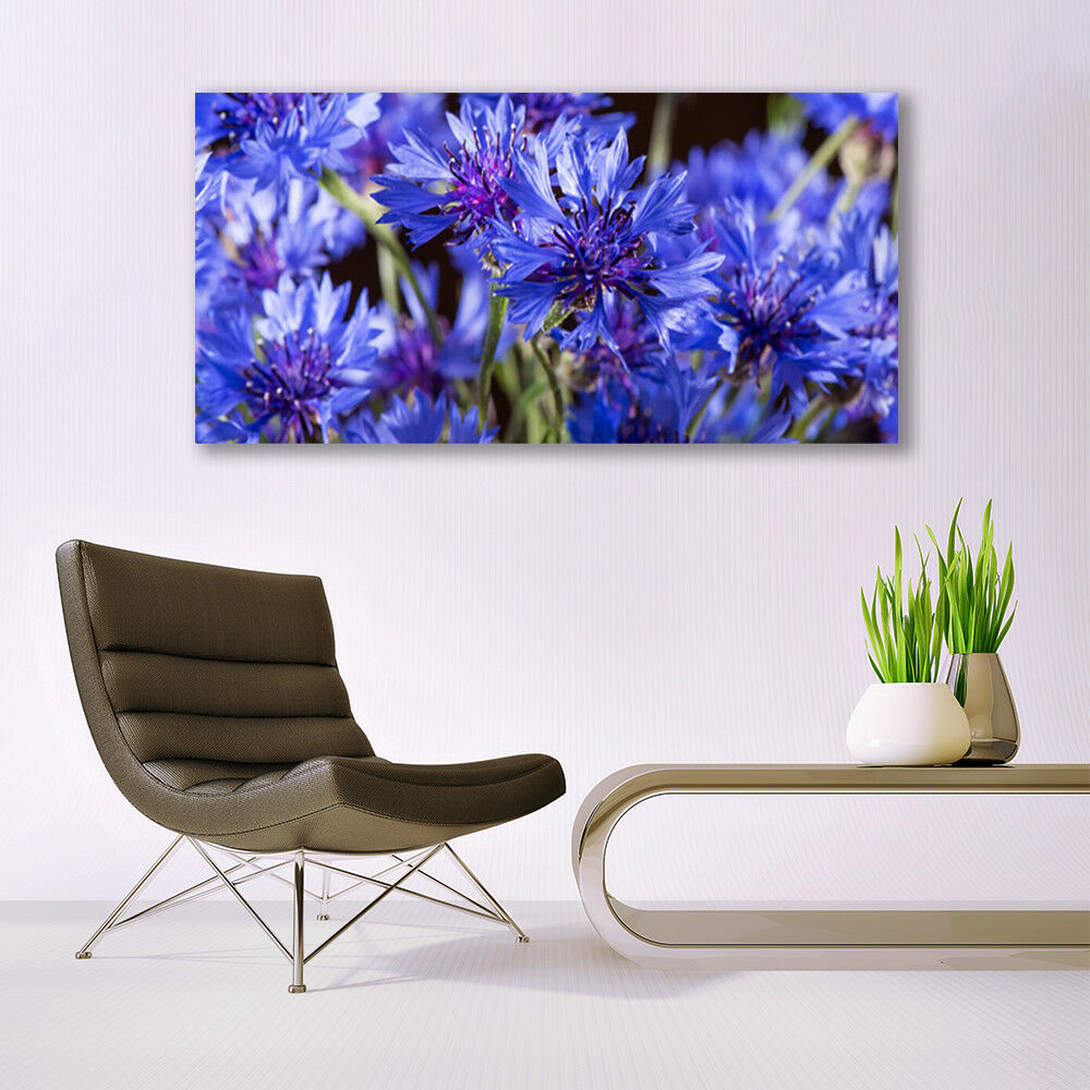 Print Print Print on Glass Wall art 140x70 Picture Image Flowers Floral 9a5a57