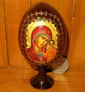 Icon-Egg-Theotokos-Our-Lady-of-Kazan-Mother-of-GOD-Russian-HAND-MADE-EASTER-GIFT