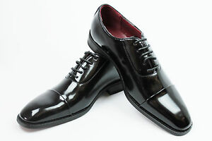 Prada Patent Leather Tuxedo Shoes