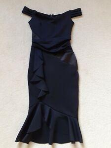 Lipsy-Black-Cocktail-Dress-size-8