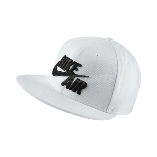 4681cab623a Frequently bought together. Nike Sportswear Air True White Black Big Logo  Swoosh Snapback ...