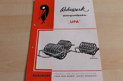 Rabewerk Untergrundpacker Upa Prospekt 07/1955 Latest Technology Knowledgeable 144514 Car & Truck Manuals Ebay Motors