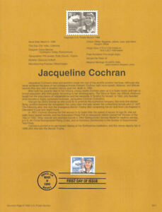 9611-50c-Jacqueline-Cochran-3066-USPS-Souvenir-Page