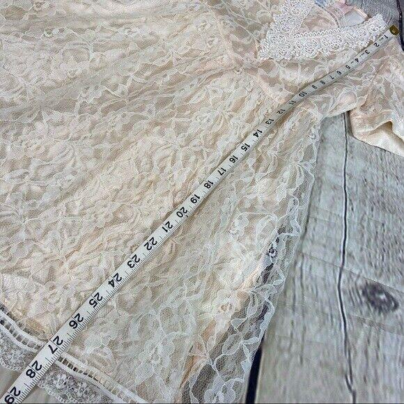 Gunne Sax girls lace dress cream shortsleeved - image 7