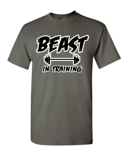 Beast In Training T-Shirt Funny Gym Workout Fitness Tee Shirt