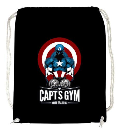 sport Captain Gym Turnbeutel Blackcaptain america comic neu