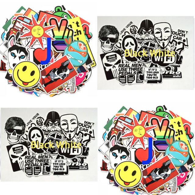 100 Random Skateboard Sticker bomb Vinyl Laptop Luggage Decals Sticker Lot Decor