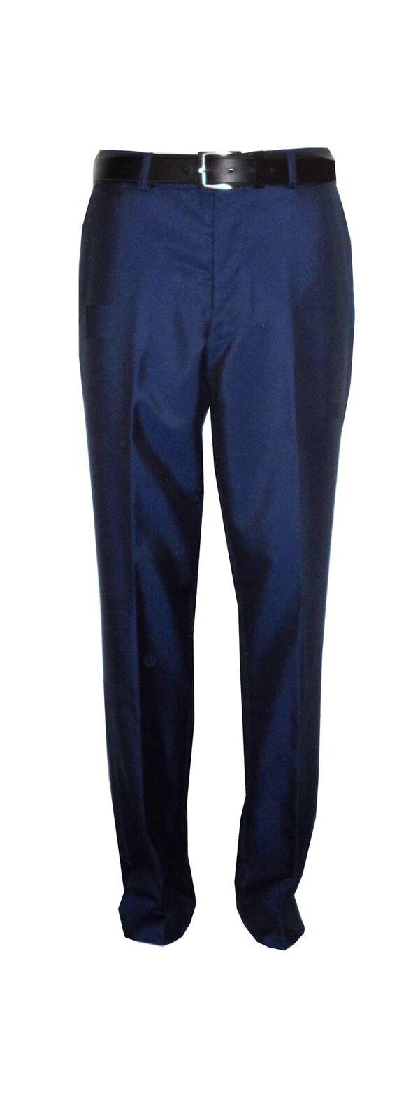 Voeut Herren Formell enge Passform Tonic blau Anzugshose (Ford) Größen