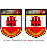 "GIBRALTAR Gibraltarian Shield 3""(75mm) Vinyl Bumper Stickers-Decals x2"