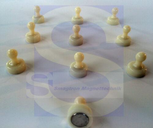 19mmø x 25mm Kegelmagnete NdFeB N35 weiß 10 StückKegelmagnete NdFeB N35