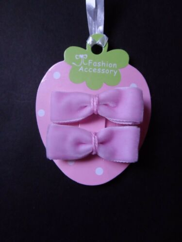 hair clips hair slides snap clips velvet bows set 5 girls// baby mini hair clips