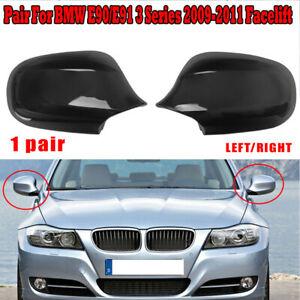 Brillant-Noir-Miroir-Housses-Retroviseur-Pour-BMW-E90-E91-330i-335i-2009-2011