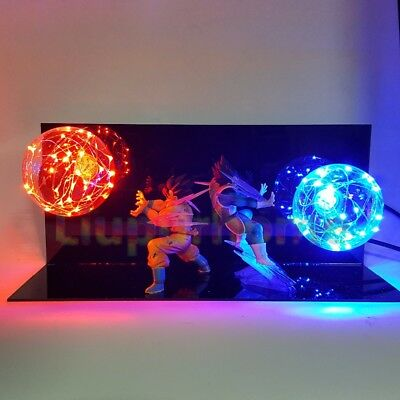 New RARE Dragon Ball Z Super Saiya GOKU Crystal Balls Set Led Light Lamp Power
