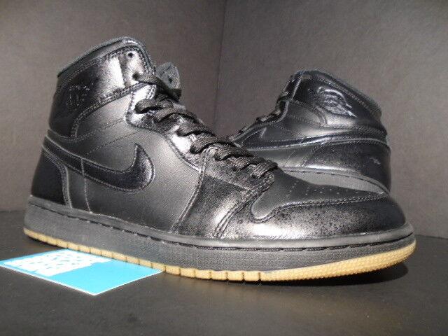 Nike Air Jordan I Retro 1 High OG BLACK GUM BROWN gold BRED 555088-020 10.5