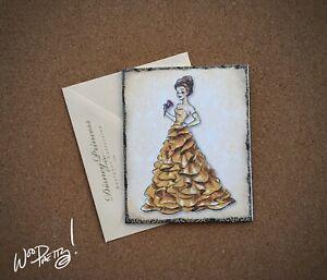 2011-Disney-Designer-Doll-Princess-Note-Card-BELLE-Steve-Thompson-Art