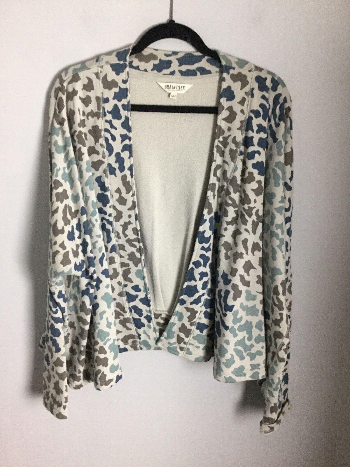 Braintree Pale bluee Cotton Open Cardigan. Size S M (14-16UK). Ex Condition
