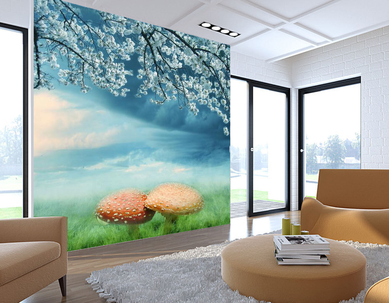3D Beautiful Nature Landscape Wall Paper Print Decal Wall Deco Indoor wall Mural