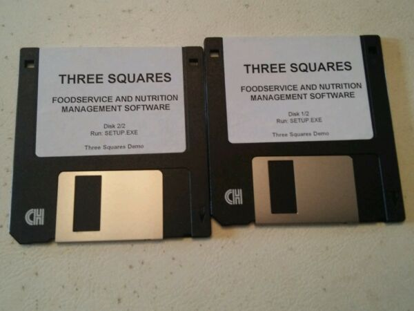 001 Vintage 3.5 Floppy Set Three Squares Foodservice Management Software Demo Aromatisch Karakter En Aangename Smaak