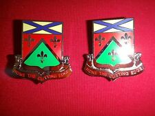 2 Metal Badges US 148th SUPPORT BATTALION Distinctive Unit Insignia