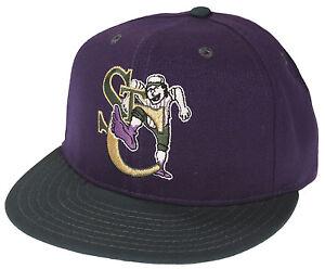 Pro-Line-MiLB-Minor-League-Baseball-St-Catharines-Stompers-Cap-Hat-Purple