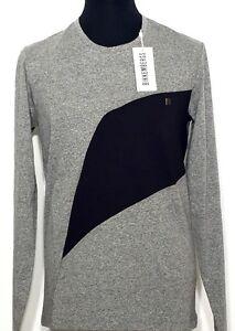DIRK-BIKKEMBERGS-Sweater-Shirt-grau-schwarz-grey-black-S-M-L-XL-NEU-mit-Etikett