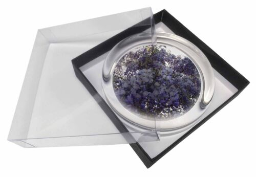 FL-11PW Cascading Wisteria Flowers Glass Paperweight in Gift Box Christmas Pres