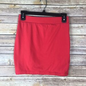 Forever-21-Womens-Mini-Skirt-Stretch-Knit-Pull-On-Tight-Fit-Elastic-Waist-Size-M