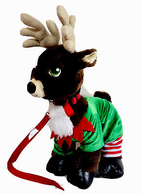 Build A Bear Donner 18 Santa S Reindeer Plush W Christmas Outfit Leash Toy Ebay