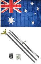 3x5 Australia Australian Flag Aluminum Pole Kit Set 3'x5'