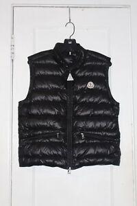 Image is loading Moncler-Men-s-Gui-Black-Puffer-Vest-Size-
