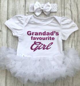 Inquiet Grandad's Girl Tutu Ange, Rose Foncé Paillettes Grandad's Favorite Girl Princess-afficher Le Titre D'origine