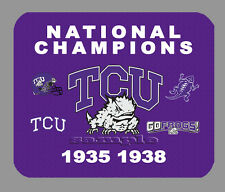 Item#1866 TCU Horned Frogs Football Championship Banner Mouse Pad