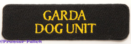 Garda Dog Unit Patch Embroidered Badge Crest Gardai Irish Police Ireland Rare