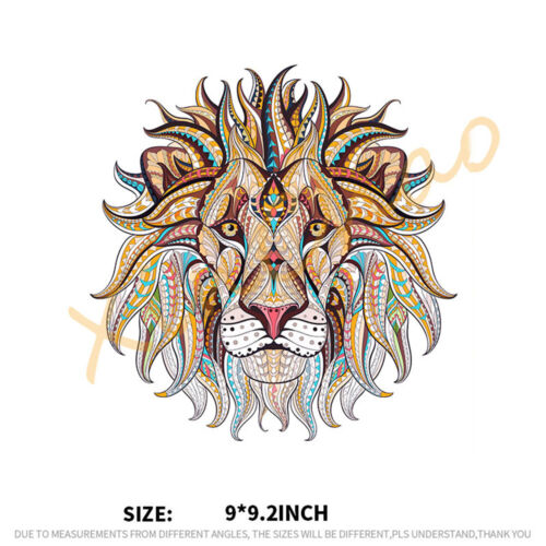 Clothes Patches Iron-on Transfer 3D Lion King Stickers For Tops T-shirt Applique