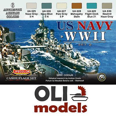 Ammo de Mig US Navy WWII Couleurs Peinture Acrylique Set