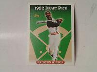 1993 Topps Baseball 132 Preston Wilson Rookie Card, Lot Of 65 Cards Mint