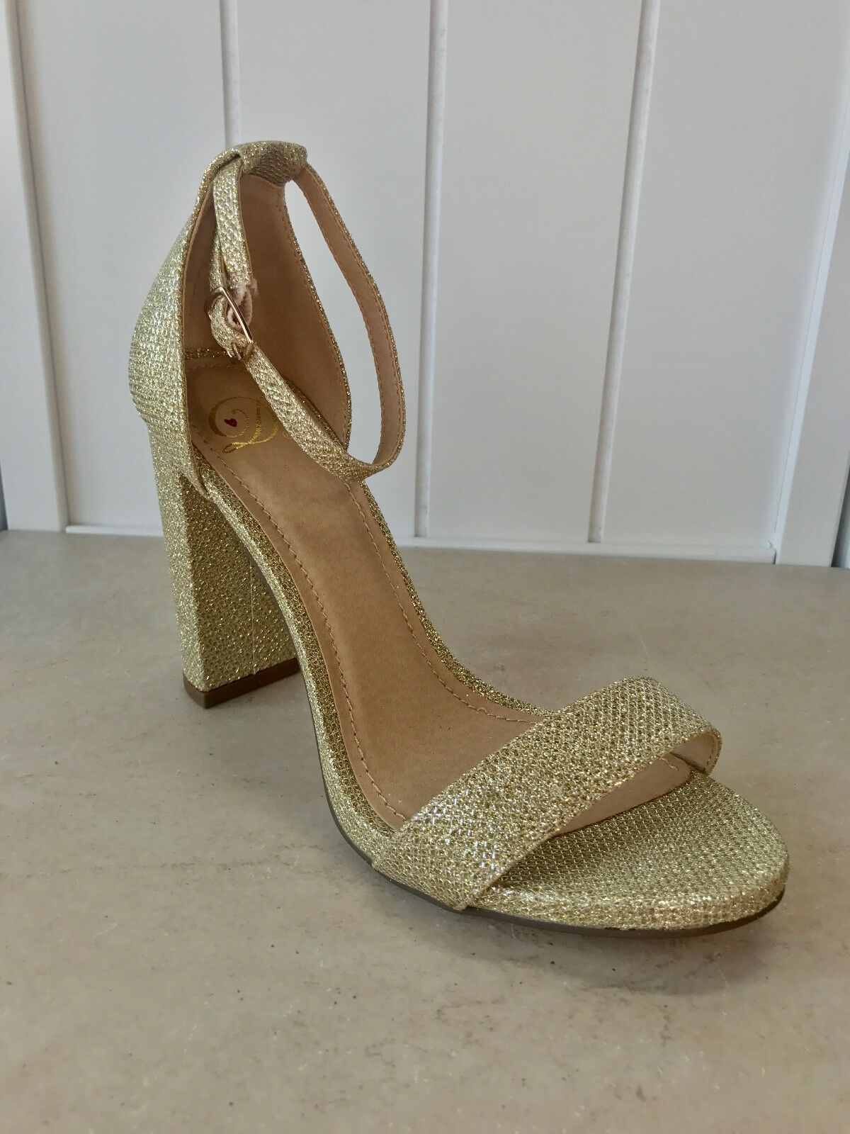 Women's High Gold Glitter App. 3.75