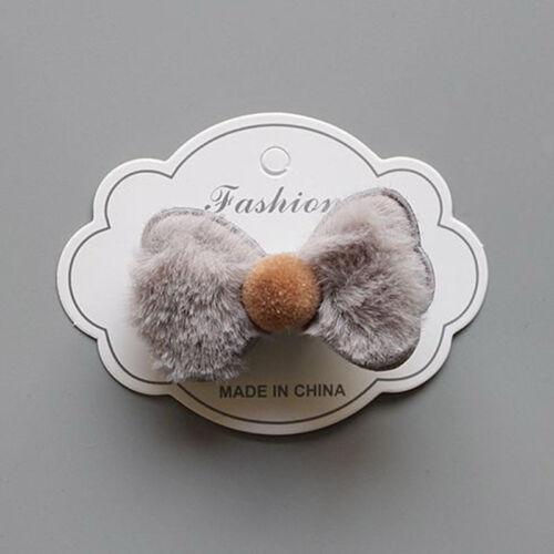 Girl Fluffy Hair Tie Bow Hair Band Accessories Elastic Scrunchie Ponytail Holder