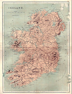 Map Of Ireland 32.An Enlarged Map Of The 32 Counties Of Ireland Original Map Dated 1860 Ebay