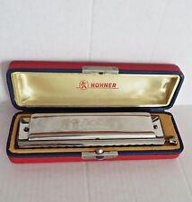 """Vtg 40s M. HOHNER Chromonika III 64 Reeds Key of """"C"""" 16 Hole Model #280 Germany"""